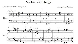 Joey Alexander - My Favorite Things (Studio) (Piano Transcription)