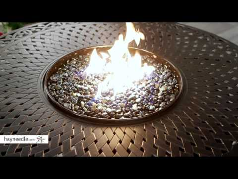 Red Ember by Agio Charleston 48 in. Round Fire Pit Table with Free Cover - Product Review Video