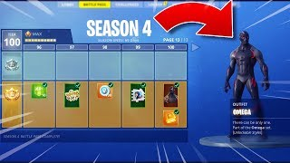 UNLOCKING *ALL* FORTNITE SEASON 4 BATTLE PASS TIERS! - *TIER 100* SKIN + ALL ITEMS!