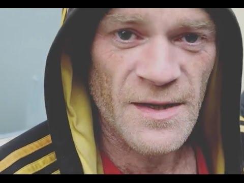 Homeless Street artist Marc Palmer in UK