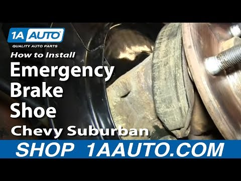 How To Install Replace Emergency Brake Shoes 2000-06 Chevy Suburban