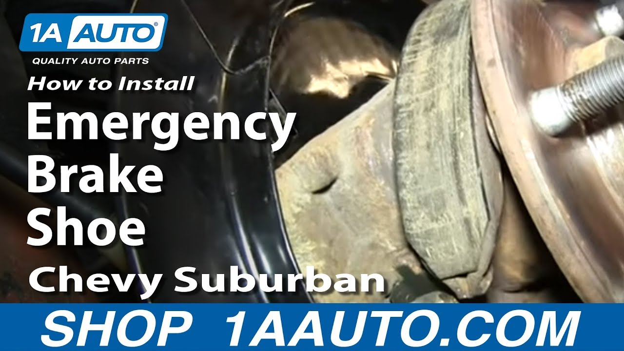 medium resolution of how to install replace emergency brake shoes 2000 06 chevy suburban