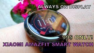Xiaomi Amazfit Video Review - Always-On Display Smartwatch - Best 99$ I Ever Spent!