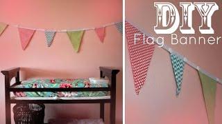 DIY Flag Banner - Pennants - Bunting (NO SEW)