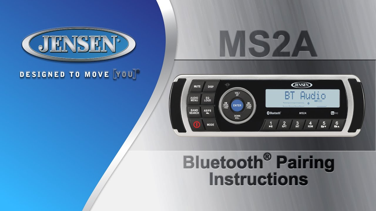 Jensen marine ms2a bluetooth pairing instructions youtube sciox Choice Image