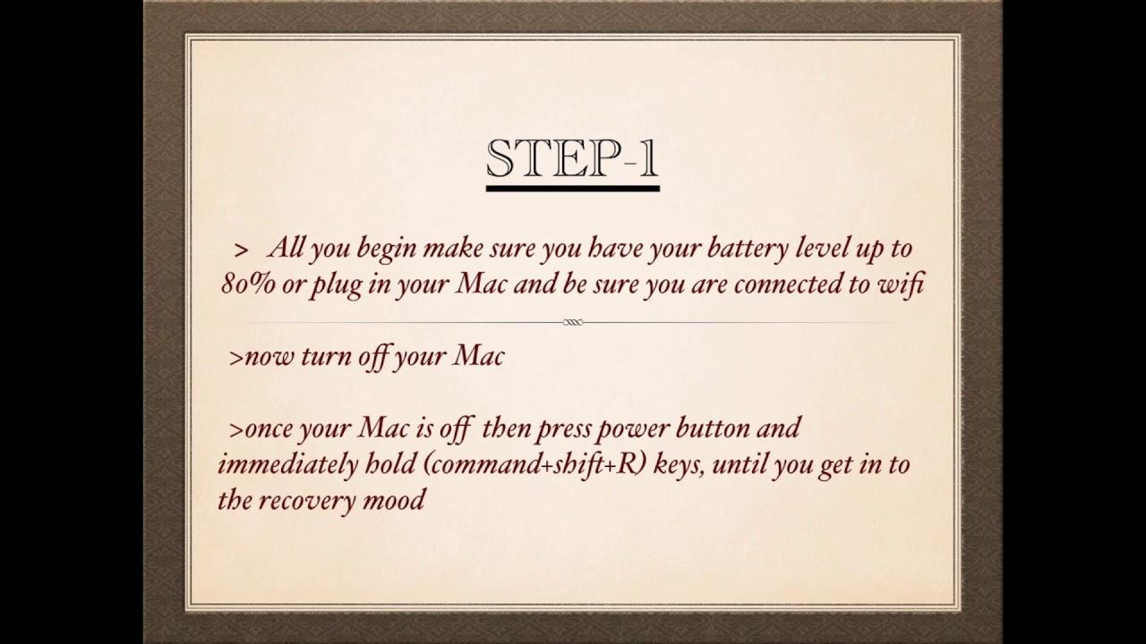 how to format /reset factory on MacBook Pro, MacBook Air ...