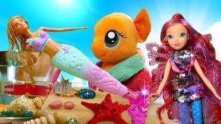 My Little Pony, Winx, Barbie la sirène et les autres. Compilation de vidéos avec les poupées.