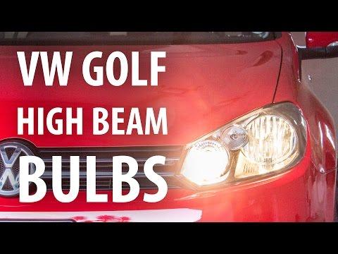 How-to: Change high beam & DRL headlight bulbs, VW Golf Mk6