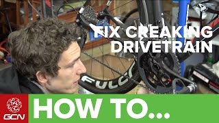 how to fix a creaking bottom bracket or cranks