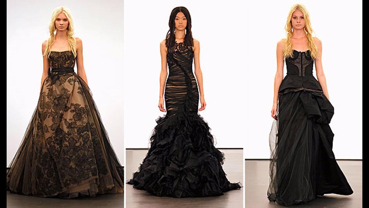 Sonar con vestido de novia negro