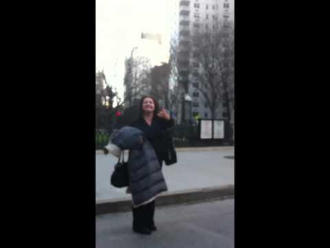 Aida Turturro Janice Soprano On Broadway in NYC.MOV