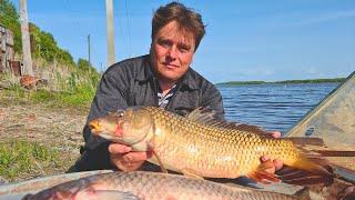 Рыбалка сетями на Дальнем востоке на реке Амур традиционное рыболовство