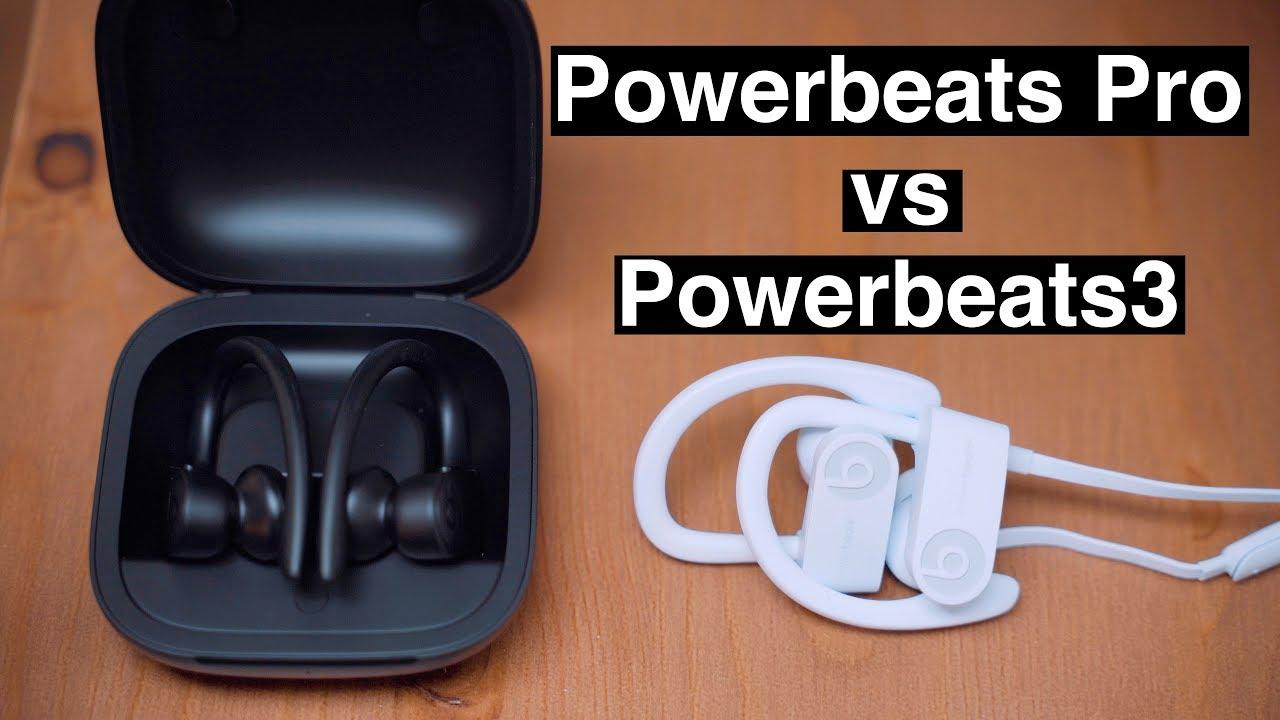 Powerbeats Pro vs Powerbeats 3 Wireless Earphones - YouTube