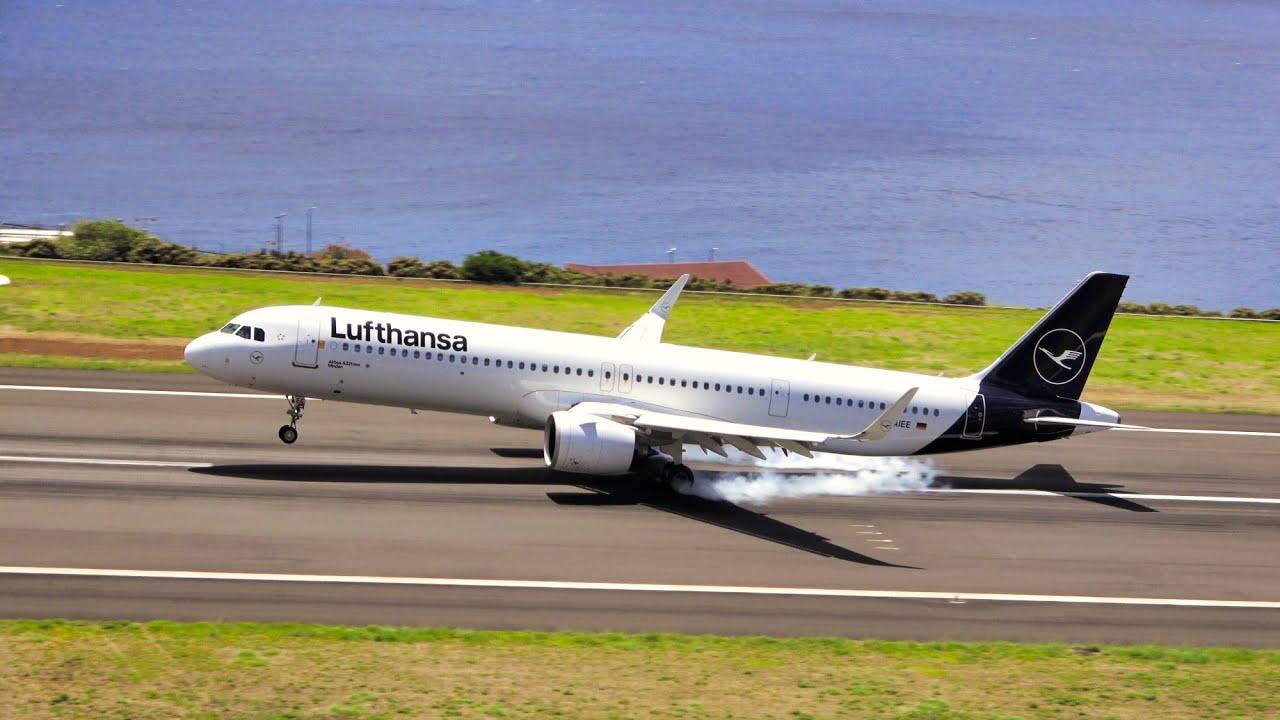 9 BEAUTIFUL MORNING LANDINGS W/ATC AT Madeira Airport