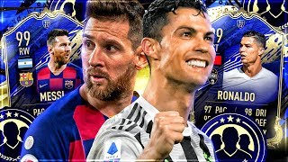 FIFA 20 : 99 TOTY RONALDO vs. 99 TOTY MESSI Squad Builder Battle 😱🔥