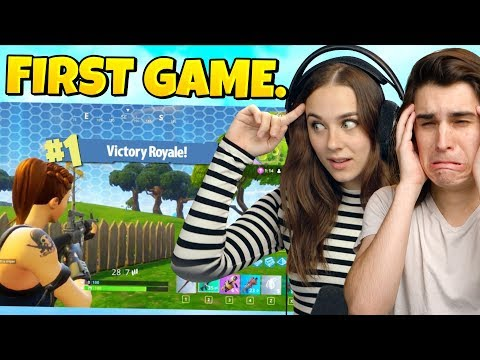 So MY GIRLFRIEND Reacted To My First Fortnite Game...