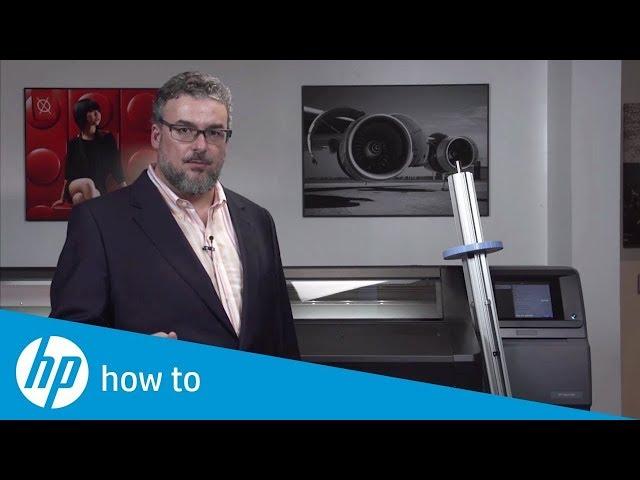 Jak ładować media do drukarki HP Latex 560 (część 2/2)