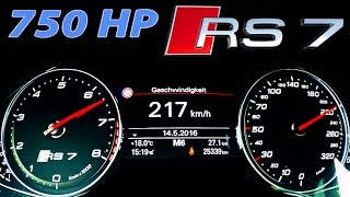 Audi RS7 Acceleration 0-250 Launch Control V8 Sound MF-RS 750