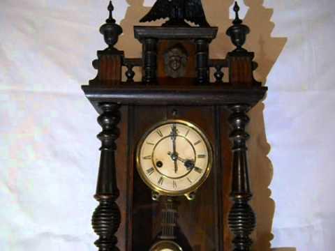 Antique German Pfeilkreuz Wall Clock 1890 Youtube