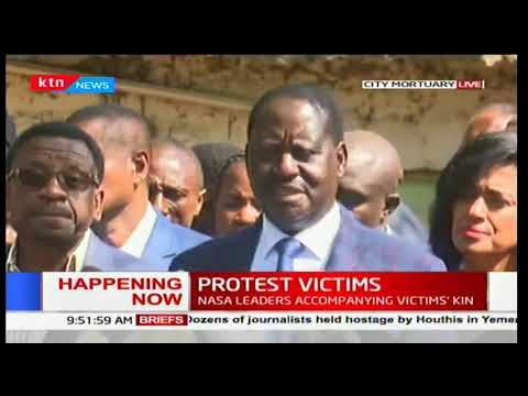 Opposition leader Raila Odinga urges Kenyans to stand up and fight for democracy