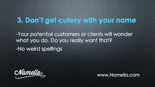 Catchy Business Names- Top Tips for Catchy Company Names
