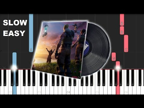 Fortnite The End Lobby Music (SLOW EASY PIANO TUTORIAL)