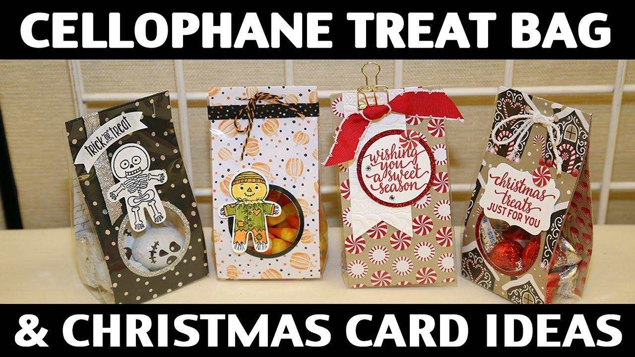 stamping jill cellophane treat bag christmas card ideas youtube. Black Bedroom Furniture Sets. Home Design Ideas