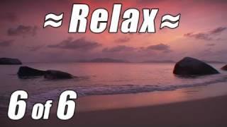 RELAX Best CARIBBEAN BEACH #6 SUNSET Ocean Waves Relaxing Nature Sounds for Studying Relax Sleep