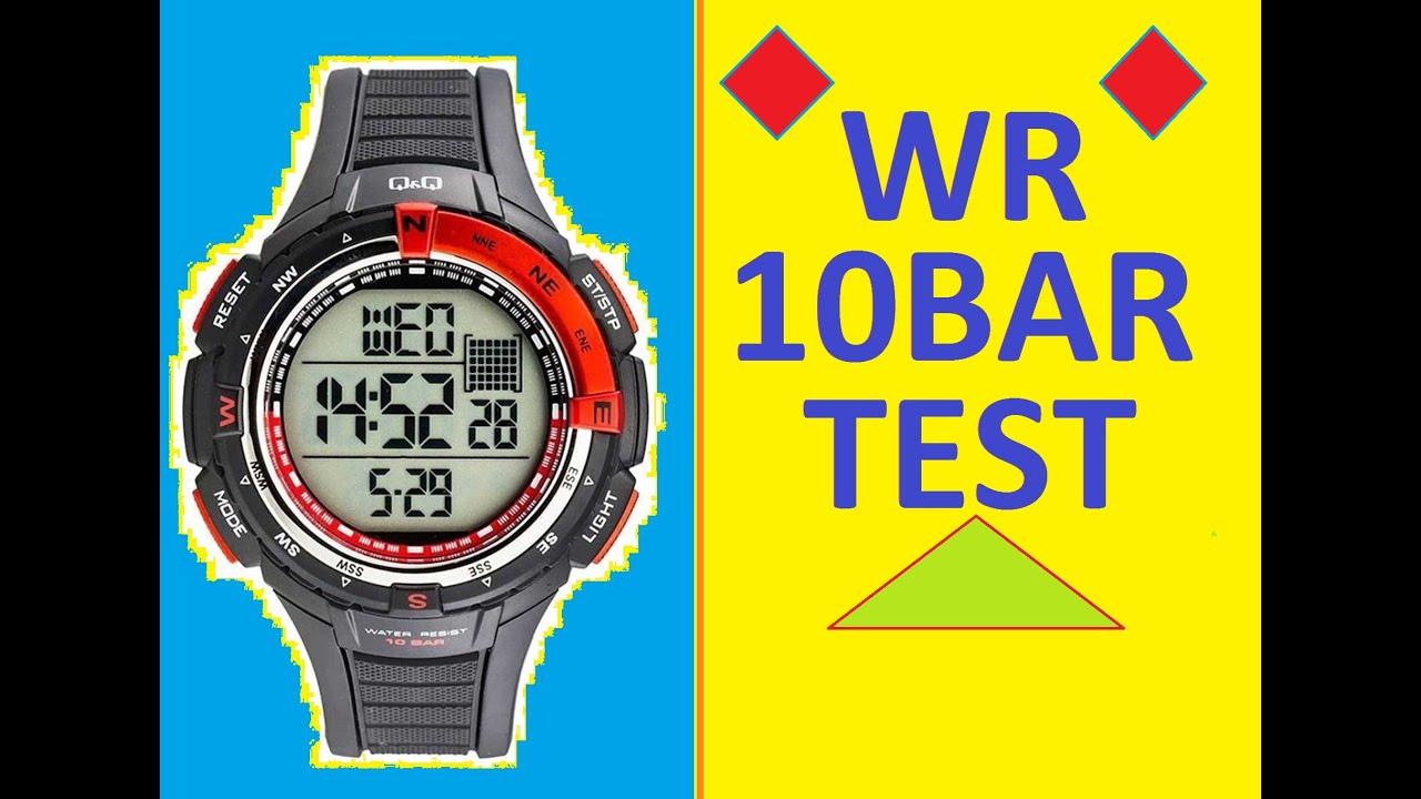 Water Resistant 10 Bar Q M131j001y