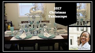 DIY: 2017 Christmas Tablescape - Mostly Dollar Tree DIY's