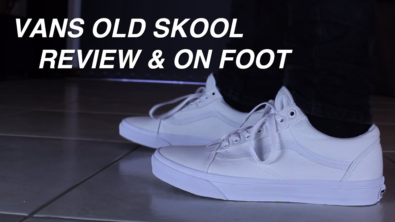 Vans Old Skool Review   On Foot (White) - YouTube 7d367de8b