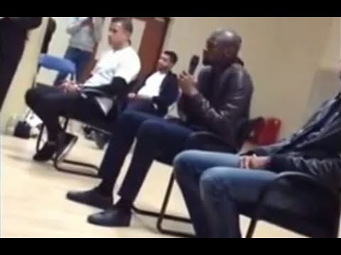 Abou Diaby's Quran recitation in East London Mosque HD!!