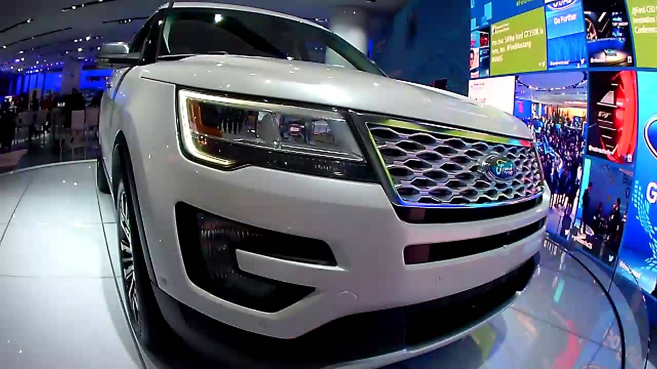 2016 ford explorer platinum naias 2015 ford booth 1 12 15 youtube