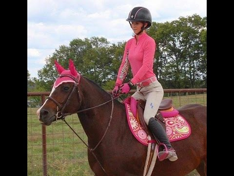 Stupid Man Falls Off Horse - Pink Helmet Girl Gets Bucked Off Twice