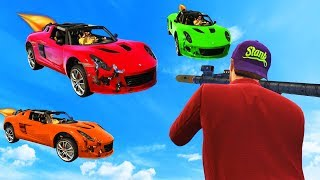 NEW SURVIVE THE ROCKET CARS! (GTA 5 Funny Moments)