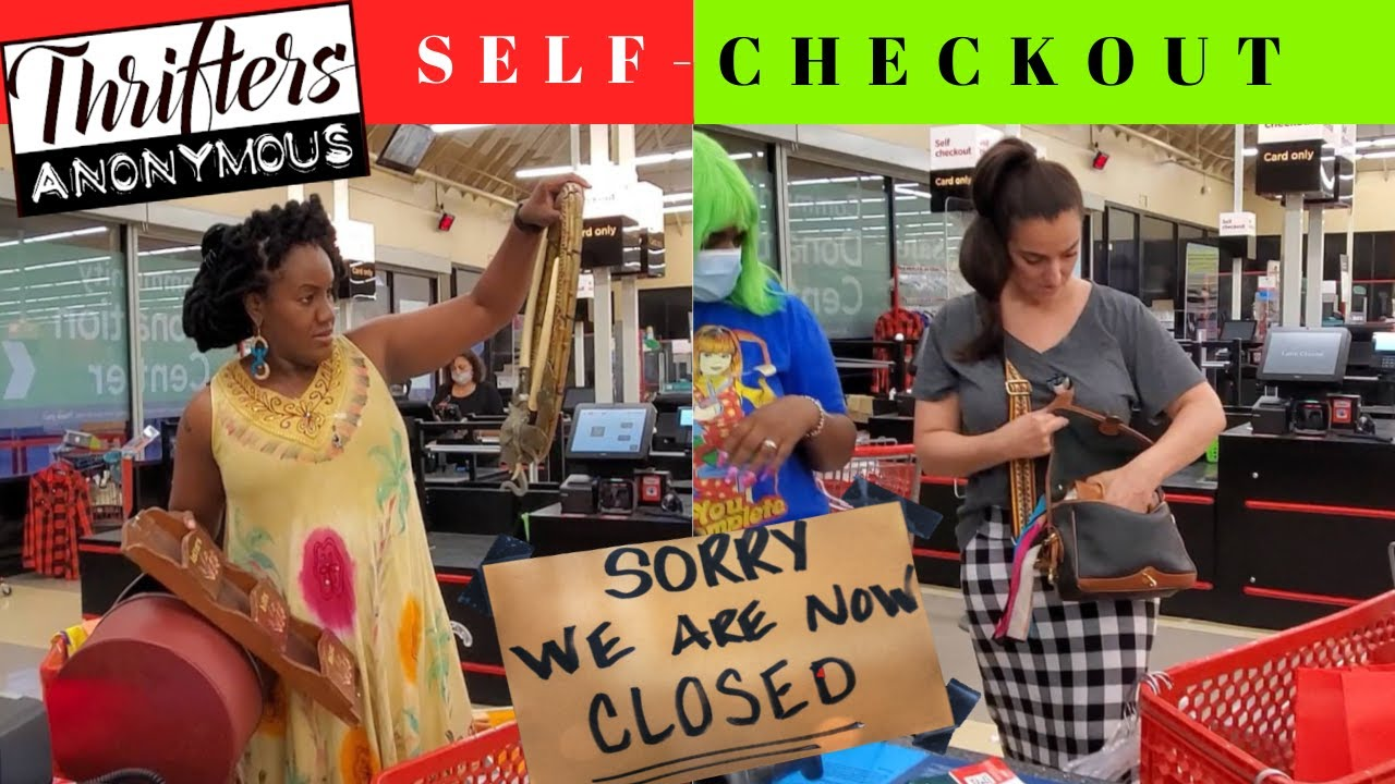 When the THRIFT STORE Closes on you! SELF-CHECK OUT + HAUL  #ThriftersAnonymous