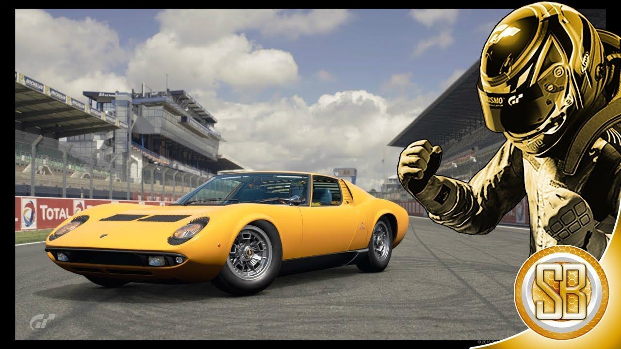 Gran Turismo Sport Lamborghini Miura P400 Car Review Le Mans