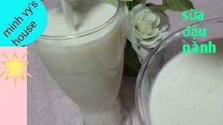 #50 sữa đậu nành- nấu sữa đậu nành thơm ngon đơn giản - nấu sữa đậu nành tại hàn quốc