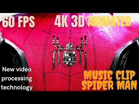 Spider-Man: Far From Home, 2019 Clip Music. 4k 60fps 3d Animated video. PS5