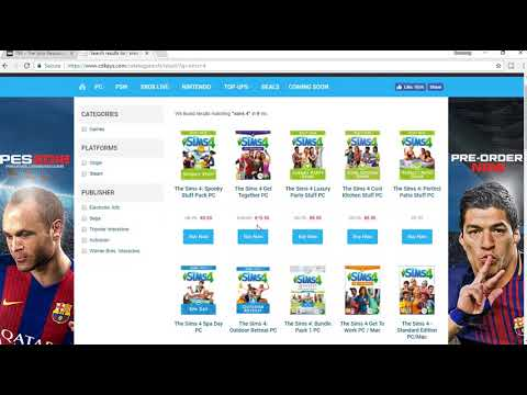 Tutorial:Where i buy my Sims 4 games!!!:)