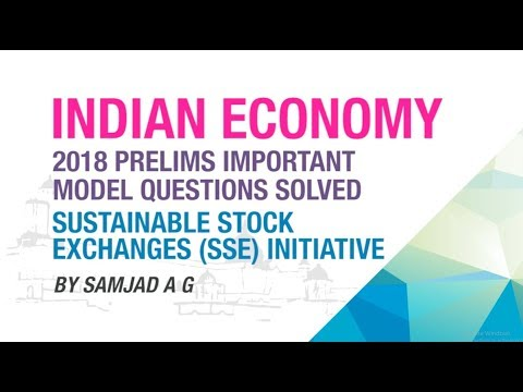 SUSTAINABLE STOCK EXCHANGES (SSE) INITIATIVE | PRELIMS IMPORTANT MODEL QUESTION SOLVED | NEO IAS