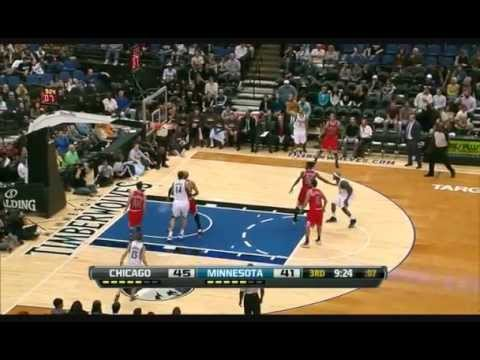 Brandon Roy(13pts-4asts)+Nikola Pekovic(16pts-17rebs) vs.Bulls (13.10.2012)