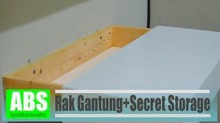 Membuat rak gantung dengan penyimpanan rahasia