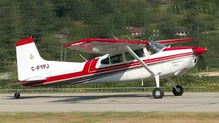 Cessna 185 Approach and Landing