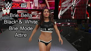 WWE 2K15 (PS4) Brie Bella Black & White Brie Mode Attire