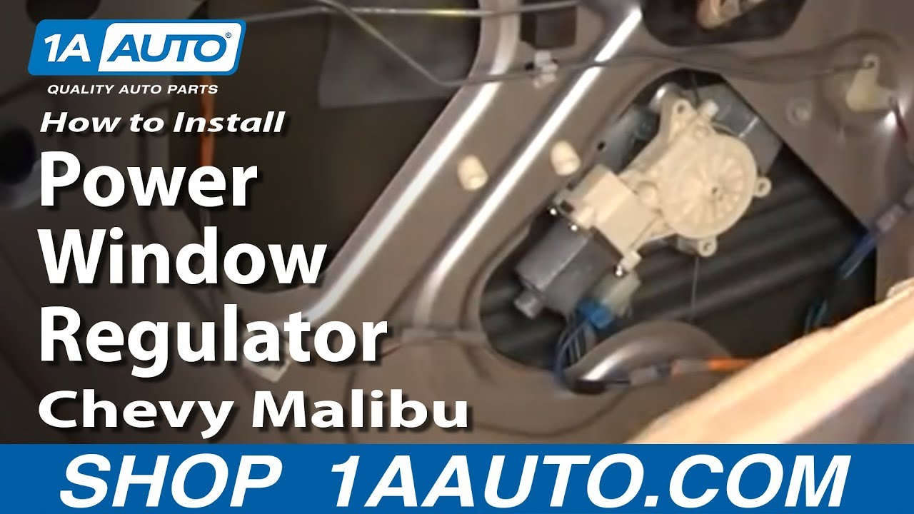 How To Install Replace Rear Power Window Regulator Chevy Malibu 04 08 1aauto Com Youtube