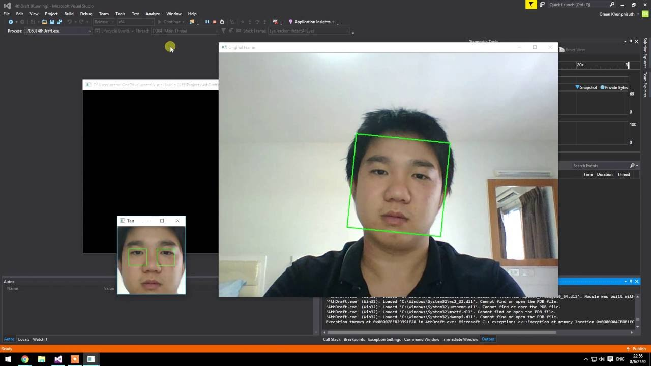 Fast and Robust Face & Eye Tracking 2 [OpenCV]