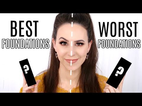 Favorite Foundations VS Most Hated Foundations in my Collection || Half/Half Wear Test & Reviews
