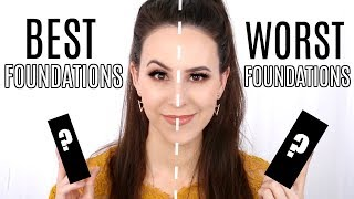 Best Foundations VS Worst Foundations in my Makeup Collection    Half/Half Wear Test & Reviews