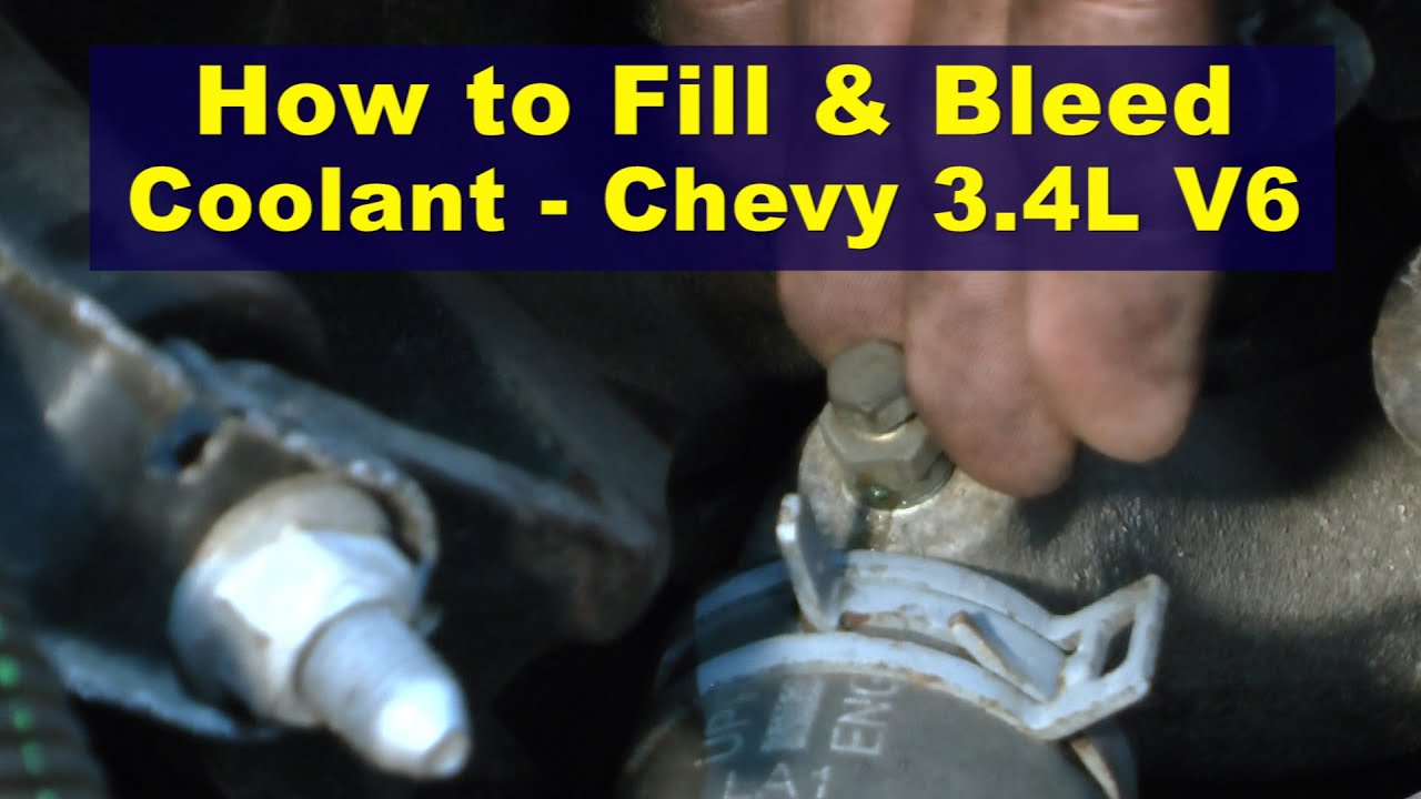 how to fill \u0026 bleed coolant chevy 3 4l v6 youtube GM 3.8L Engine Diagram